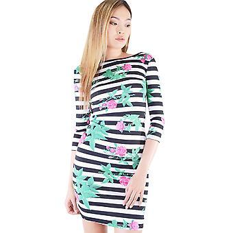 Lovemystyle Backless klänning med Stripe och Flower Print