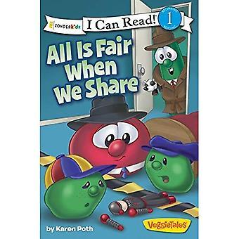 Alles Is eerlijk wanneer We delen ik PB kan lezen (ik kan lezen! / grote idee boeken / Veggietales)