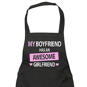 My Boyfriend Has An Awesome Girlfriend Black Apron
