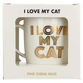 Lesser & Pavey I Love My Cat China Mug Lp33654