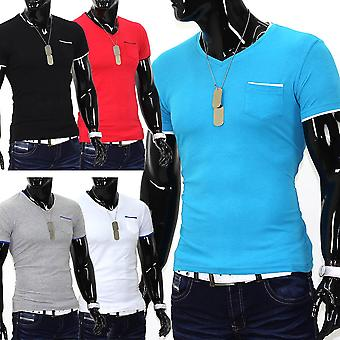 Men's short sleeve t-shirt Stretch Slim fit Polo Shirt Colored Clubwear Club