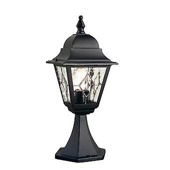 Elstead Beleuchtung Norfolk im freien IP43 Sockel Laterne In schwarz