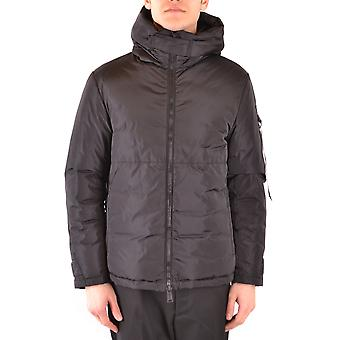 Add Ezbc193004 Men's Black Nylon Outerwear Jacket