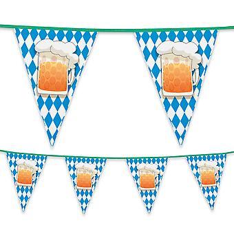 6 mètres en plastique Bunting bière fête Oktoberfest