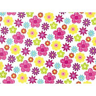 Simon Elvin Flowers Gift Wraps (24 Sheets)