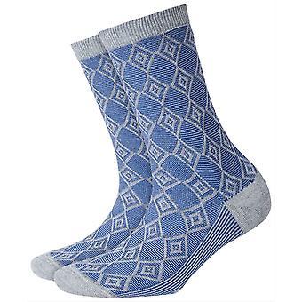 Burlington Ladywell Diamond Socks - Jasnoniebieski/Jasnoszary