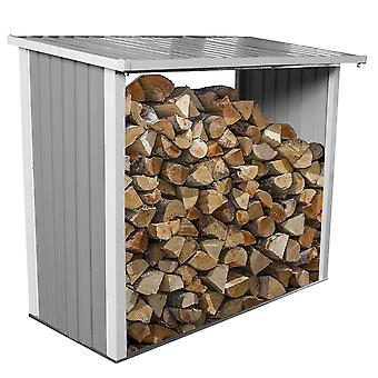 Charles Bentley Metal Log Wood Store Capannone - 6x3ft (W182 x D89 x H148cm)
