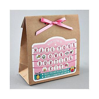Floss & Rock Make Your Own Bunting Kit - Pink Princess
