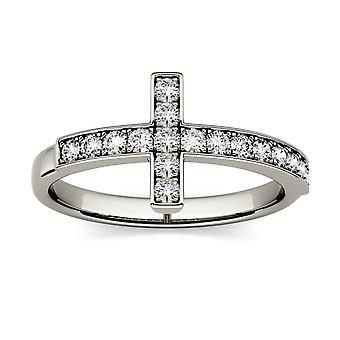 För evigt klassiska 1,7 mm runda kors Ring, 0.34cttw DAGG