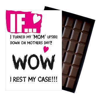 ママ面白い失礼箱チョコレートバーのための母の日の贈り物ママやミイラIF114