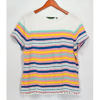 C. wonder vrouwen ' s top engineered Stripe korte mouw Tee wit A287632