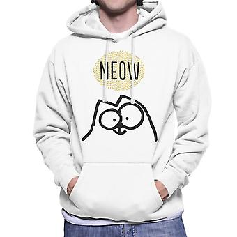 Simon's Cat Meow Men's Hooded Sweatshirt