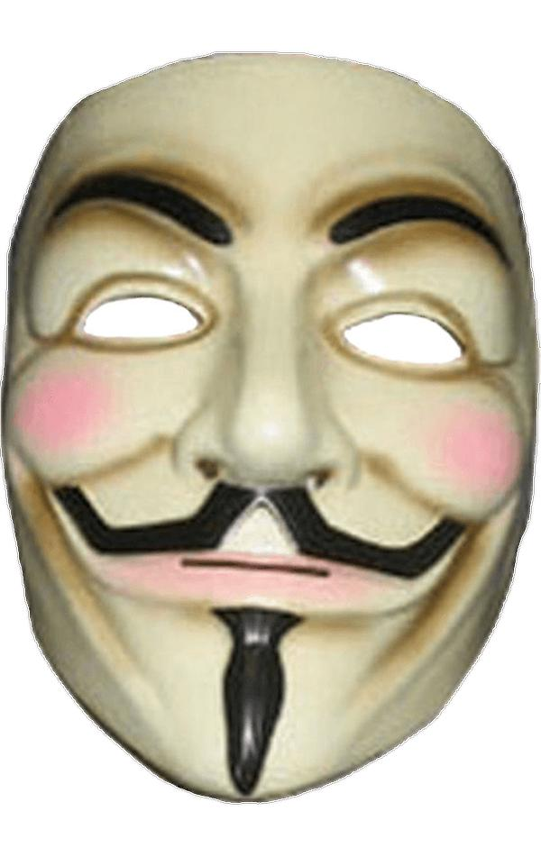 Adult V for Vendetta Mask Guy Fawkes Anonymous Halloween Fancy Dress Accessory