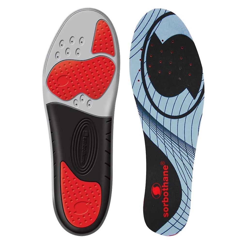 Sorbothane Sorbo Pro Shock Stopper Cushioned Adult Shoe Insole Grey/Black
