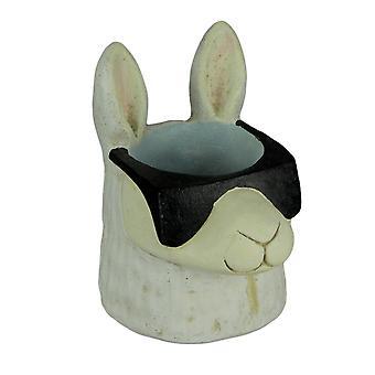 Black and White Cool Llama Wearing Sunglasses Planter Statue