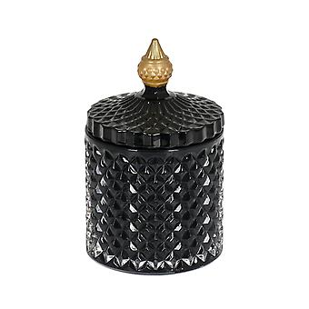 Bougie parfumée dans le pot en verre avec le couvercle