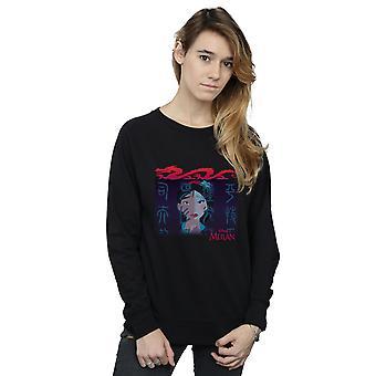 Disney Women's Mulan Geisha Face Sweatshirt
