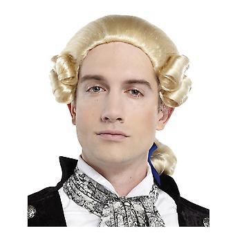 Royal Grand Blonde Colonial Judge George Washington French Men Costume Wig