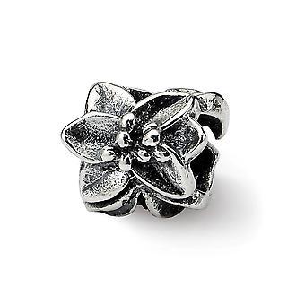 925 Sterling Silver Antiguidade De acabamento Reflections Plumeria Floral Bead Charm Pingente Pingente Joias para Mulheres