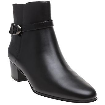 Coach Womens Chrystie Bootie Almond Toe Ankle Fashion Boots