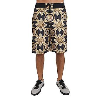 Black Gold Baroque Knee Length Casual Homme