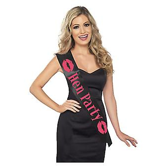 Womens Black Sash di addio al nubilato