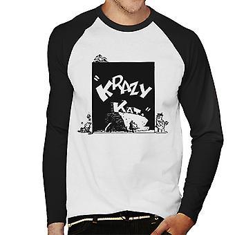 Krazy Kat Brick Drop Men's Baseball Long Sleeved T-Shirt