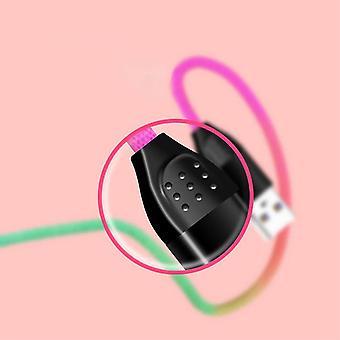 キットミーアウトUSBタイプC、3.1 Amp USB Cファストチャージナイロン編組ケーブル色サムスンギャラクシーS8 / S8 + / S9 / S9 +、充電データ同期ケーブルリードコード