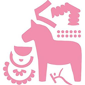 Ecstasy Crafts Marianne Design Collectables Dies-Eline's Dala Horse, 3-inch x 3.25-inch