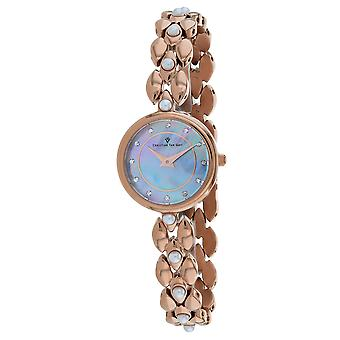 Christian Van Sant Women's Perla Blue mother of pearl Dial Watch - CV0614