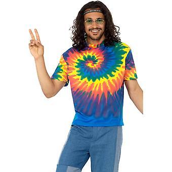 Batik T-Shirt hippie Carnaval Festival kleurrijk thema partij