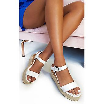 IKRUSH Womens Polly Flatform Wedged Sandals