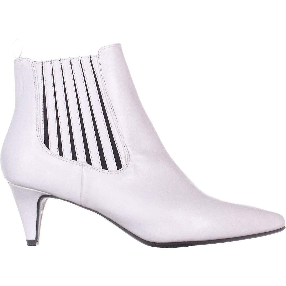 Bar III Womens Eliza Leather Pointed Toe Ankle Fashion Boots