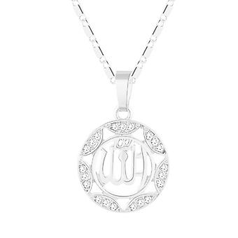 Necklace with Muslim symbol, round-Silver