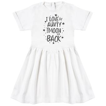 I Love My Aunty To The Moon And Back Baby Dress