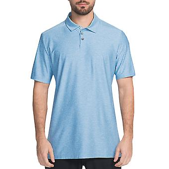 Skechers Golf Mens Pitch Shot Breathable Perforated Stretch Polo Shirt