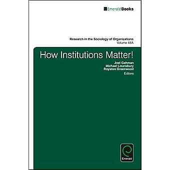 How Institutions Matter by Gehman & Joel
