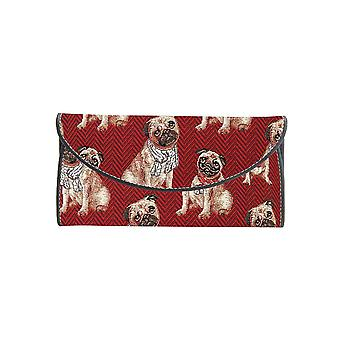Pug money wallet by signare tapestry / enve-pug