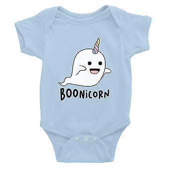 Boonicorn lindo traje de Halloween fantasma unicornio bebé Bodysuit regalo cielo azul