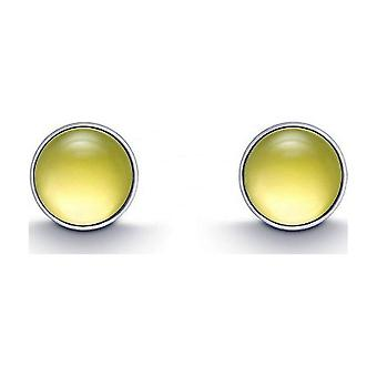 QUINN - Studearrings (Pair) - Argent - Gemstone - Lemonquartz - 36180948
