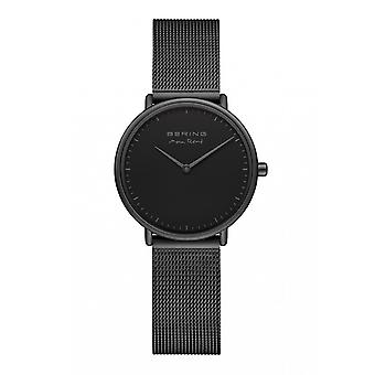Uhr Bering 15730-123 - Schwarzes Stahlzifferblatt schwarz Stahl Armband schwarz Frau