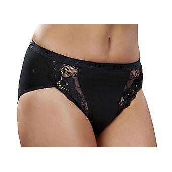 Ladies Quality Cotton & Lace Maxi Stretch Brief panty knicker Underwear 3pk
