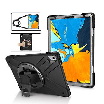 Black Shoulder & Hand-strap Armor For iPad Pro 11 Inch (2018) Case