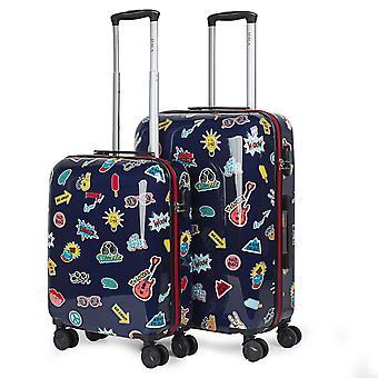 Conjunto de 2 carrinhos de viagem de viagem de bebê malas da assinatura de Itaca