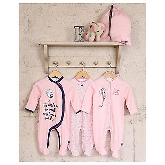 The Essential One 3 Pack Ellie Mouse Balloon Sleepsuits