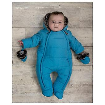 The Essential One Baby Boys Fur Trimmed Snowsuit