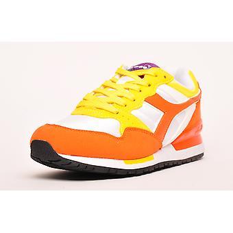 Diadora Intrepid NYL Heritage Vermillion Orange / Cyber Yellow / White