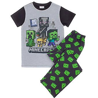 Minecraft Pyjamas Zombie Boy's Short Sleeve T-Shirt & Trousers Kids PJs Set