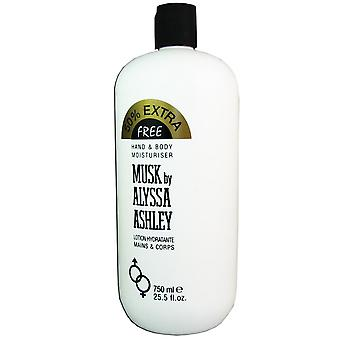 Moskus av alyssa ashley 25,5 oz 750 ml hånd & body lotion