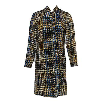 سوزان غرافير المرأة & s بيتيت المطبوعة الجدة Knit المنفضة كاردي الأسود A366175